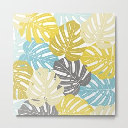 Colourful tropical leaves Metal Print