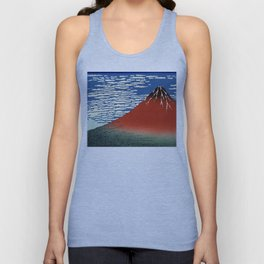 "Hokusai (1760–1849) ""Fuji, Mountains in clear Weather (South Wind, Clear Sky)(Red Fuji)"" Unisex Tank Top"