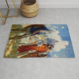 """""""I Am Sir Lancelot du Lake"""" by NC Wyeth Rug"""