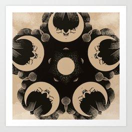 Ouija Wheel of the Moon - Beyond the Veil Art Print