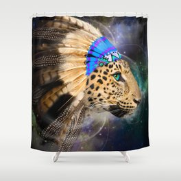 Fight For What You Love (Chief of Dreams: Leopard) Tribe Series Shower Curtain