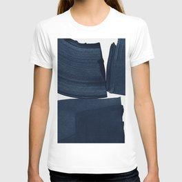 Minimalist Painting Blue I, Navy Decor T-shirt
