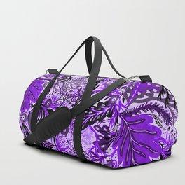 Ultraviolet Flower Field, Purple Lilac Leaves &  Intricate Lavender Floral Blooms Pattern Duffle Bag