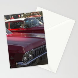 Old-timey Quebec City cars Stationery Cards