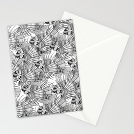 fish mirage black white Stationery Cards
