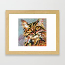 Orange Bob Framed Art Print