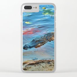 Good Morning Alligator Clear iPhone Case