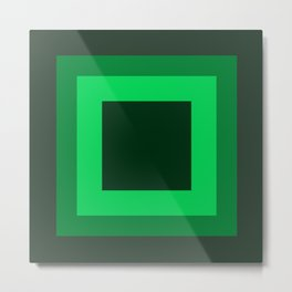 Dark Green Square Design 2 Metal Print
