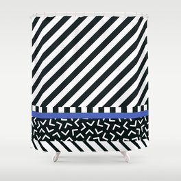 Memphis pattern 89 Shower Curtain