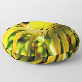 Green Palm Leaves. Play Of Light And Shadow Floor Pillow