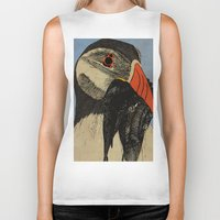 puffin Biker Tanks featuring Puffin  by EmilyGrantDesign