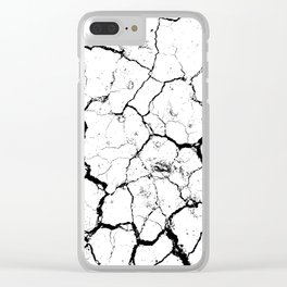 The cracks texture white and black Clear iPhone Case