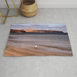 The Coastline at Normanville Australia Rug