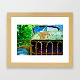 Green Truck Framed Art Print