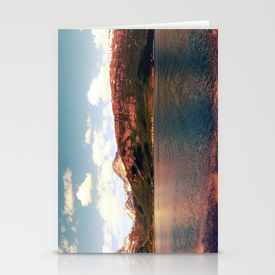fjord landscape panorama, norway Stationery Cards