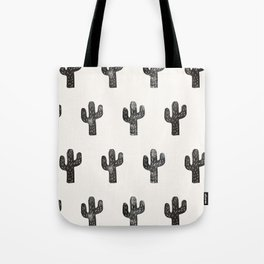 Stamped Cactus Tote Bag