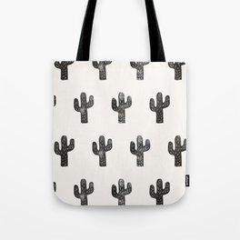 Stamped Cactus Tote Bag