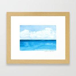 Elena's Ocean Framed Art Print