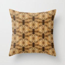 Collagraph Textures Throw Pillow