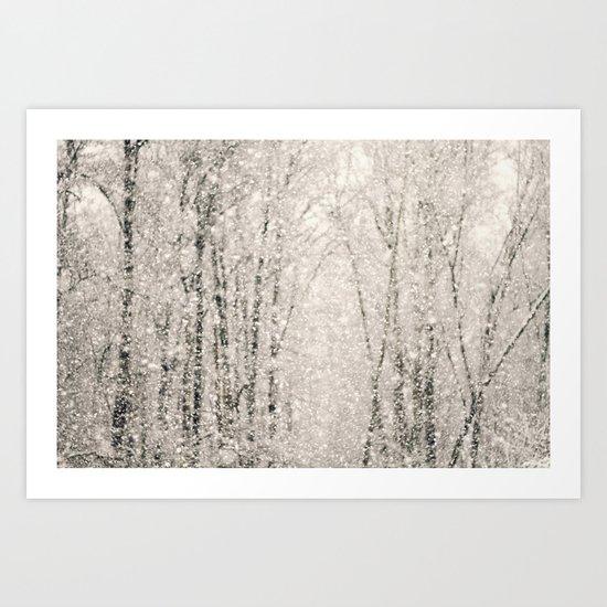 The White Stuff Art Print