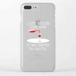 Wine bottle alcohol woman wife funny gifts Clear iPhone Case