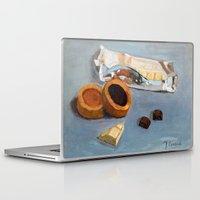 bar Laptop & iPad Skins featuring Chocolate bar by Jos Eertink