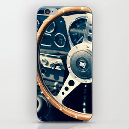 Old Triumph Wheel / Classic Cars Photography iPhone Skin