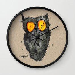 Scary owl Wall Clock