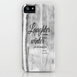 Les Miserables Quote Winter iPhone Case