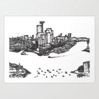 SYDNEY-SCAPE Art Print