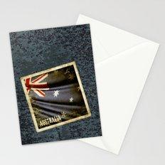 Grunge sticker of Australia flag Stationery Cards