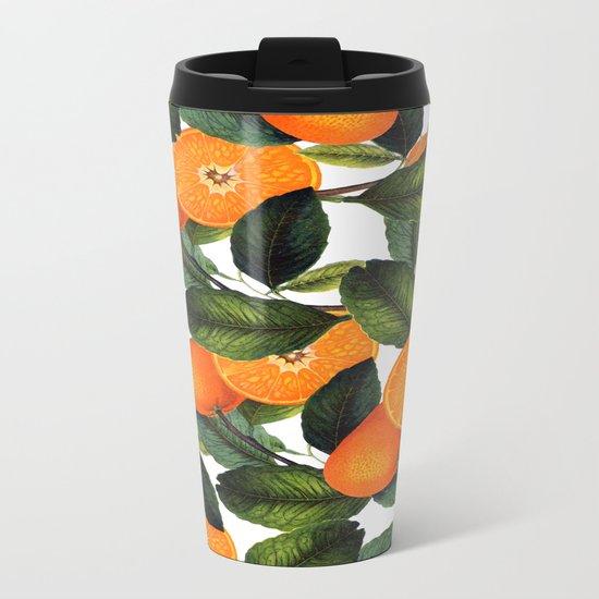The Forbidden Orange #society6 #decor #buyart Metal Travel Mug