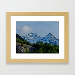 The Sky Pilot and the Co-Pilot Mountains Framed Art Print