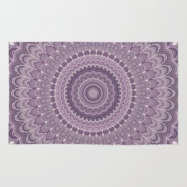 Purple feather mandala Rug