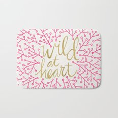 Wild at Heart – Pink & Gold Bath Mat