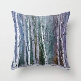 Winter Frost at Dusk Throw Pillow