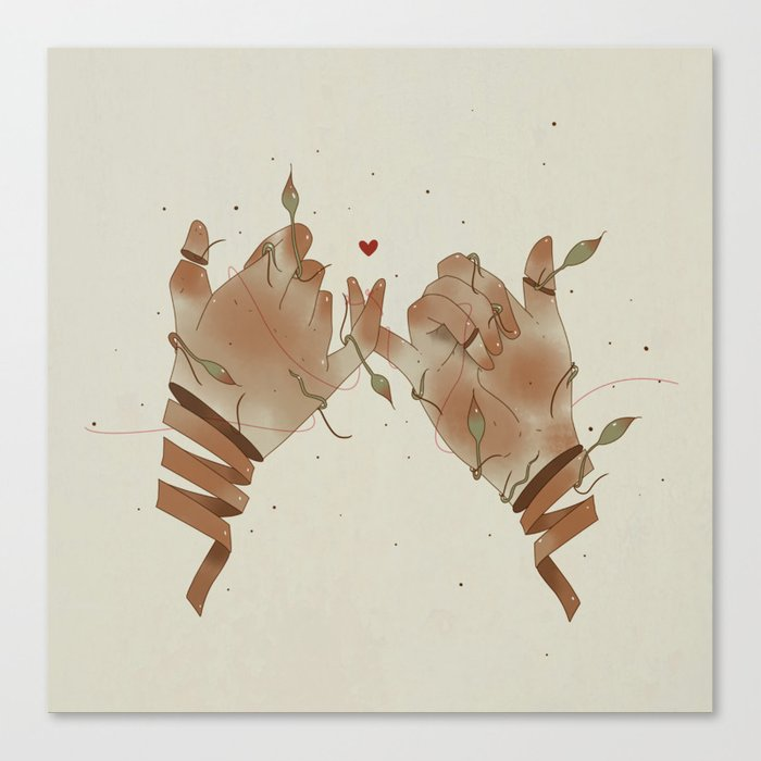 Red String Of Fate Canvas Print By Anig Society6