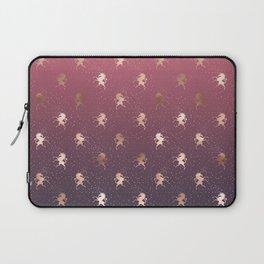 Modern Home Ombre Gold Unicorn Pattern Laptop Sleeve