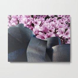 Flower Clouds Metal Print