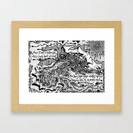 Drawing Love Framed Art Print