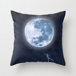moon balloon Throw Pillow
