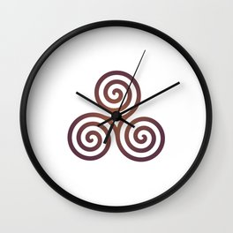 St. Patrick's Day Celtic Red Triskelion #1 Wall Clock