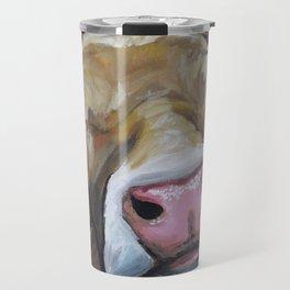 Cow art, Cute colorful cow art Travel Mug