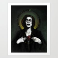 The Immortal Agent Scully Art Print