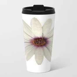 Symmetrical African Daisy with White Petals Travel Mug