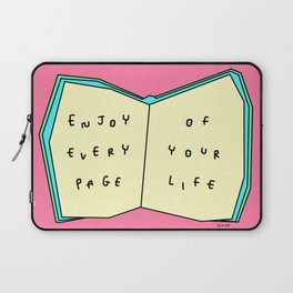 Words from a Colorful Book - inspirational quote illustration Laptop Sleeve
