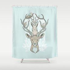 Friends & Birds Shower Curtain