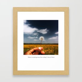 Almost everything comes from nothing Framed Art Print