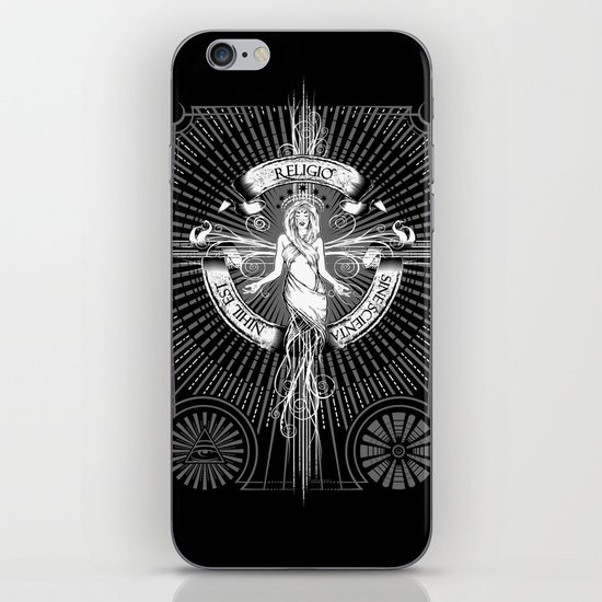 Religio Sine Scienta Nihil Est iPhone Skin