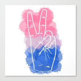 Bisexual Pride Canvas Print